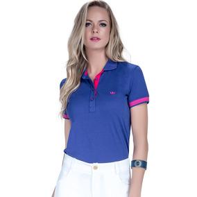 Blusa Gola Polo Feminina Polo Azul Royal Principessa Suzie