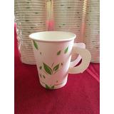 Vasos Para Cafe Biodegradable 8 Oz. Con Asa