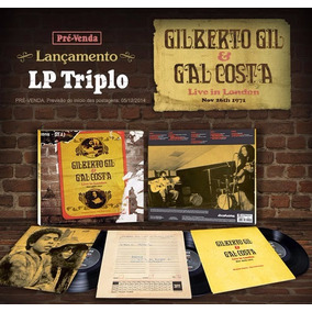 Lp Triplo Gil & Gal Costa Live In London