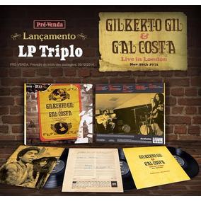 Lp Triplo Gil & Gal Costa Live In London