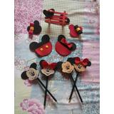Lembrancinha,convinte,decoração,lapis Minnie E Mickey E.v.a