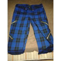 Pantalones Entubados Emo Rock Punk Skate Dark Rock Cadena