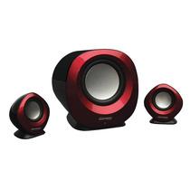 Caixa De Som 2.1 - 10w Rms - Vermelha/preta - Maxprint