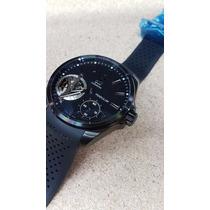 Reloj Tag Heuer 007tg Carrera Pendulum Cuerda Negro Y Caucho