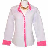 Camisa Feminina Manga Comprida Dudalinda Flor