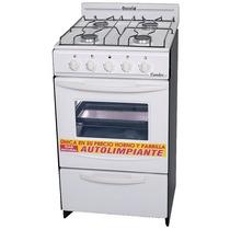 Cocina Escorial Candor Blanca 4 Hornallas Encendido 50 Cm