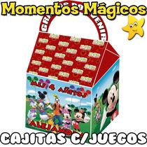 10 Cajita Feliz Souvenir Mickey Minnie Golosinera + 7 Juegos