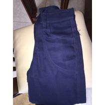 Pantalones De Niño Talla 6 100% Algodon Color Azul