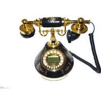 Telefono Antiguo Replica Porcelana Negro Coller Id Feng Shui