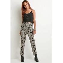 Forever 21 Leaf Print Pants [ootd] H&m Zara