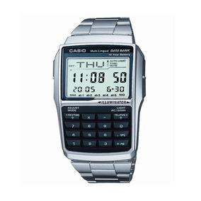 Relógio Casio Original Dbc-32 Databank Aço Fones Calculadora