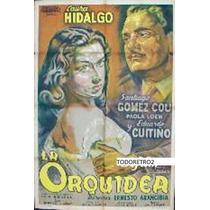 Afiche La Orquídea Laura Hidalgo, Santiago Gómez Cou 1951