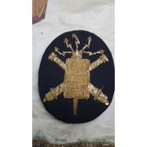 Escarapela Bordada En Hilo De Oro Del Colegio Militar