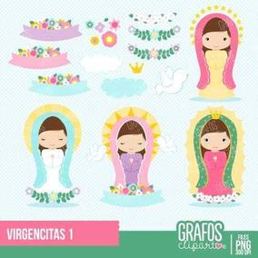 Kit Imprimible Virgencitas 2 Imagenes Clipart