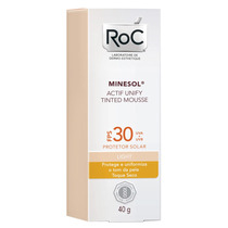 Minesol Actif Unify Tinted Mousse Light Fps30 Roc - 40g
