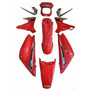 Kit Plástico Careng Yamaha Xtz125 2003 Vermelh Adesivada