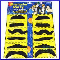 Bigode Postiço Falso Mustache Cartela C/ 12 Festas Fantasias