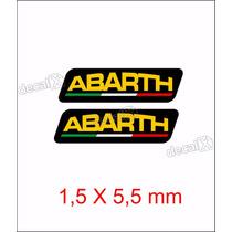 Emblema Adesivo Resinado Fiat Abarth Esseesse Coluna Rs06