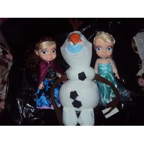 Princesas Disney 3 Figuras Anna, Olaf Y Elsa De Frozen.