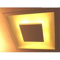 Lustre Embutido Quadrado Luz Indireta Iluminação Led 20 W