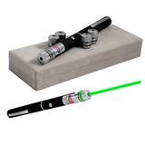 Caneta Laser Pointer Verde Lanterna 5000mw Até 7km 5 Pontas