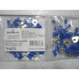 Pacote 50(pçs) Terminal Olhal 1,5-2,5mm Com Furo De 6,5mm Az