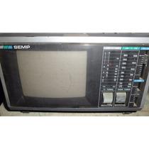 Tv Portatil Color Antiga Produto Para Colecionador