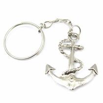 50 Chaveiro Ancora Metal Lembrancinha Marinheiro Fundo Mar