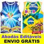 Abadás Editáveis Vetor Corel Carnaval Vetorizados Camisa Top