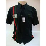Ref 28-camisa Beagle M/c Preta Com Detalhes Em Desenho
