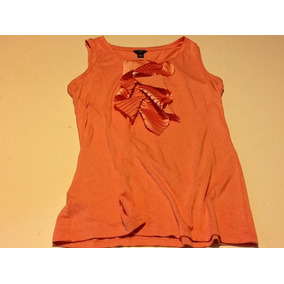 Ann Taylor Top Musculosa Con Jabot T Xs