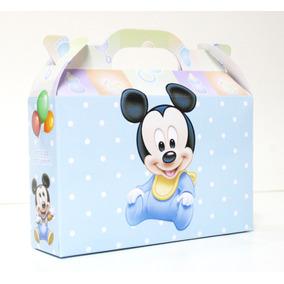 Cajita Bolsita Mickey Bebé Souvenirs Infantiles Pack X30