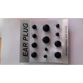 Alargador Ear Plug 6 Pares Número .5.6.8.10.12.14