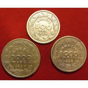 3 Moedas 1939, S. Ilustres Cent. De 500, 1000, 2000 Réis X