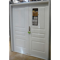 Porton Puerta Doble Nexo 3 Tableros Deluxe Blanco 160x200