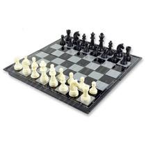 Jogo De Xadrez Magnético Dobrável Peças Plásticas Com Imã