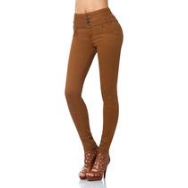 · Jeans Fergino De Gabardina Strech Color Bronce Szp365