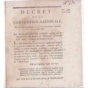 Terror Revolução Francesa 1794 Decreto Convenção Nacional