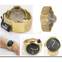 Relógio Puma Ultrasize Original Aço Dourado