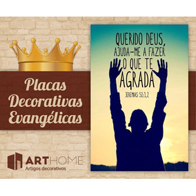 Placas Em Mdf Frases Evangélicas Versículos Bíblicos Gospel
