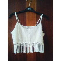 Top Crochet Blanco - Talla L