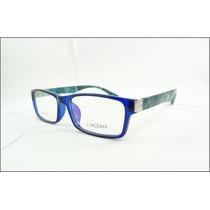 Armação Oculos De Grau Azul Marca Carolina Acetato - A611