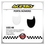 Porta Numero Delantero Kawasaki Acerbis Blanco / Negro