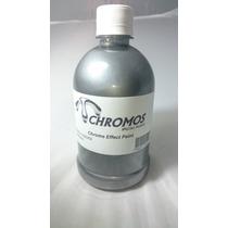 Tinta De Efeito Cromado Chromos 500ml / Verniz Pu Bi Compon.