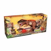 Brinquedo Dinossauro Tirano Rex Com Som Adjomar