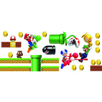 A Vinil Decorativo De Mario Bros P/ Habitación Infantil