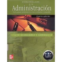 Libro: Introducción A La Administración - Sergio Hdez. - Pdf