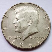 Moneda Usa Half Dolar 1964 Kennedy Plata Excelente Mejor Año
