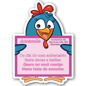 30 Convites Com Corte Especial - Galinha Pintadinha