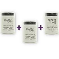03 Secret Hair Máscara Cristalização Dos Fios! Promoção!!